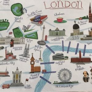 Paper Destiny Wall Art - London Art Print NWT